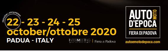 Fiera Padova Auto d'Epoca 2020